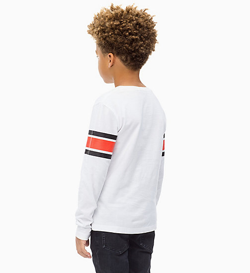 Athletic Logo T-shirt - BRIGHT WHITE - CALVIN KLEIN JEANS BOYS - detail image 1