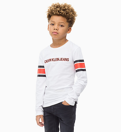 Athletic Logo T-shirt - BRIGHT WHITE - CALVIN KLEIN JEANS BOYS - main image