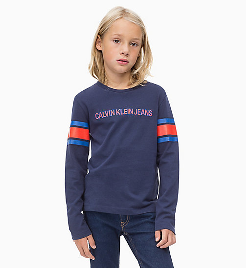 CALVIN KLEIN JEANS Athletic Logo T-shirt - PEACOAT - CALVIN KLEIN JEANS MEN - main image