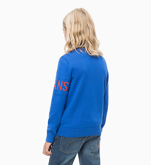 CALVIN KLEIN JEANS Lightweight Logo Sweatshirt - NAUTICAL BLUE - CALVIN KLEIN JEANS MEN - detail image 1