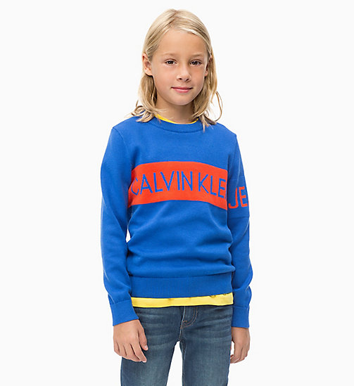 Lightweight Logo Sweatshirt - NAUTICAL BLUE - CALVIN KLEIN JEANS BOYS - main image