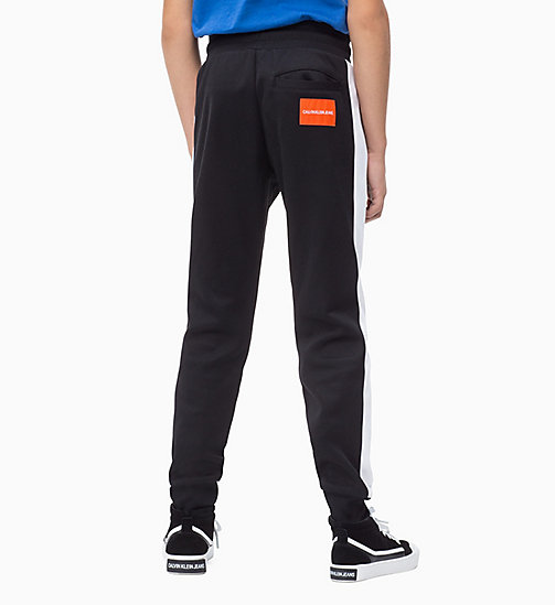 CALVIN KLEIN JEANS Colour-Blocked Joggers - BLACK BEAUTY - CALVIN KLEIN JEANS BOYS - detail image 1