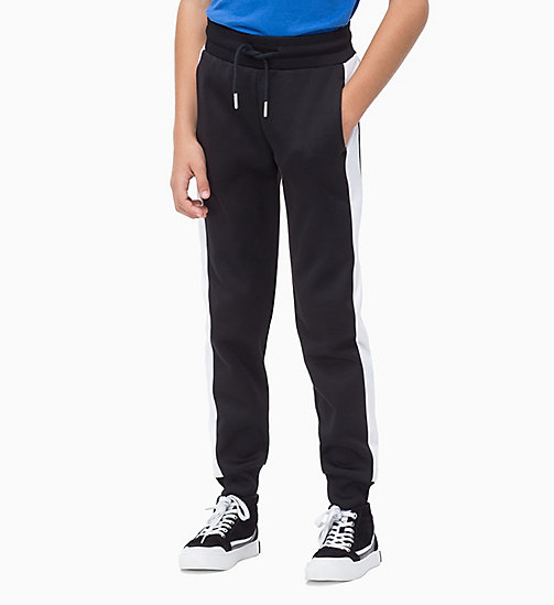 CALVIN KLEIN JEANS Colour-Blocked Joggers - BLACK BEAUTY - CALVIN KLEIN JEANS BOYS - main image