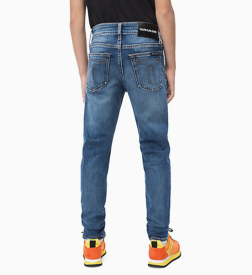 CALVIN KLEIN JEANS Tapered Jeans - ESSENTIAL MID BLUE STRETCH - CALVIN KLEIN JEANS MEN - detail image 1