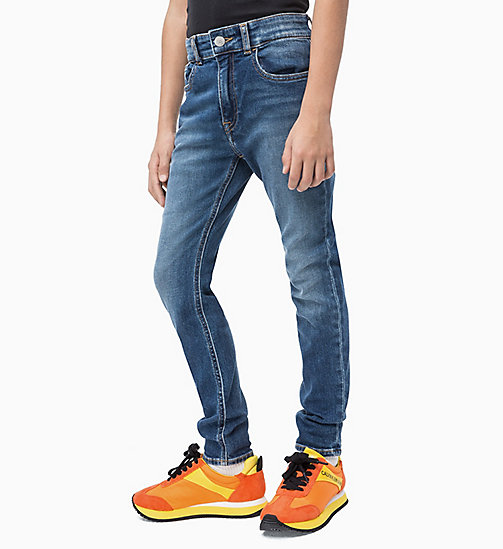 CALVIN KLEIN JEANS Tapered Jeans - ESSENTIAL MID BLUE STRETCH - CALVIN KLEIN JEANS MEN - main image