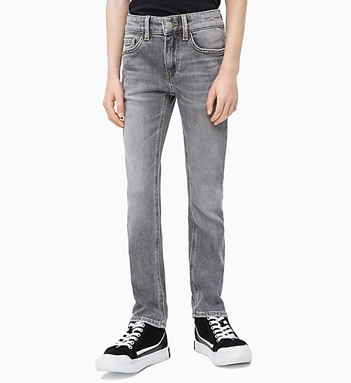 CALVIN KLEIN JEANS Slim Jeans - GREY AUTHENTIC COMFORT - CALVIN KLEIN JEANS MEN - main image