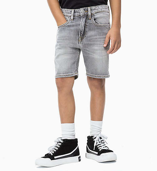 CALVIN KLEIN JEANS Tapered Denim Shorts - GREY AUTHENTIC COMFORT - CALVIN KLEIN JEANS HERREN - main image