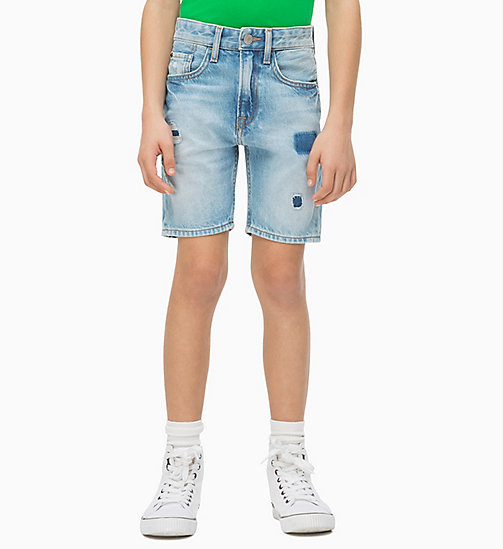 CALVIN KLEIN JEANS Tapered Vintage Denim Shorts - BRENTON AUTHENTIC BLUE RIGID - CALVIN KLEIN JEANS HERREN - main image