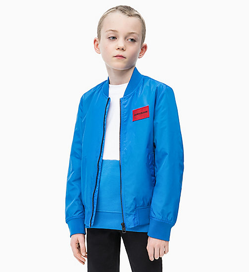 CALVIN KLEIN JEANS Lightweight Bomber Jacket - ELECTRIC BLUE LEMONADE - CALVIN KLEIN JEANS MEN - main image
