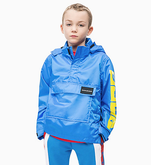 CALVIN KLEIN JEANS Printed Anorak - ELECTRIC BLUE LEMONADE - CALVIN KLEIN JEANS MEN - main image