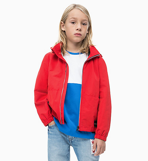 CALVIN KLEIN JEANS Hooded Jacket - RACING RED - CALVIN KLEIN JEANS MEN - main image