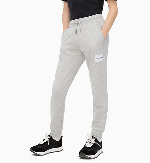 CALVIN KLEIN JEANS Cotton Terry Joggers - LIGHT GREY HEATHER - CALVIN KLEIN JEANS MEN - main image