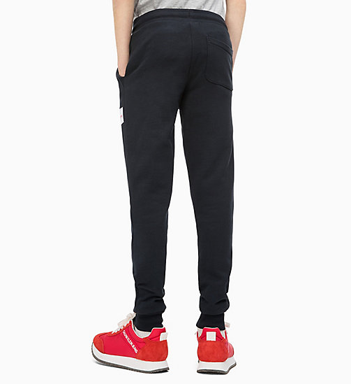 CALVIN KLEIN JEANS Cotton Terry Joggers - BLACK BEAUTY - CALVIN KLEIN JEANS MEN - detail image 1