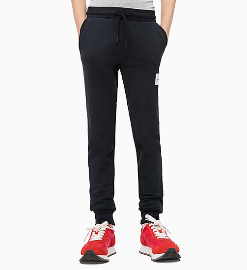 CALVIN KLEIN JEANS Cotton Terry Joggers - BLACK BEAUTY - CALVIN KLEIN JEANS MEN - main image