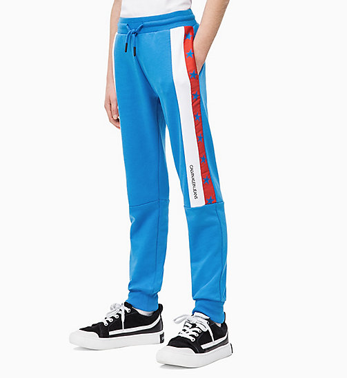 CALVIN KLEIN JEANS Colourblock Joggers - BRIGHT WHITE - CALVIN KLEIN JEANS MEN - main image