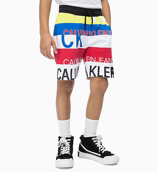 CALVIN KLEIN JEANS All-Over Logo Sweatshorts - BLACK BEAUTY - CALVIN KLEIN JEANS MEN - main image
