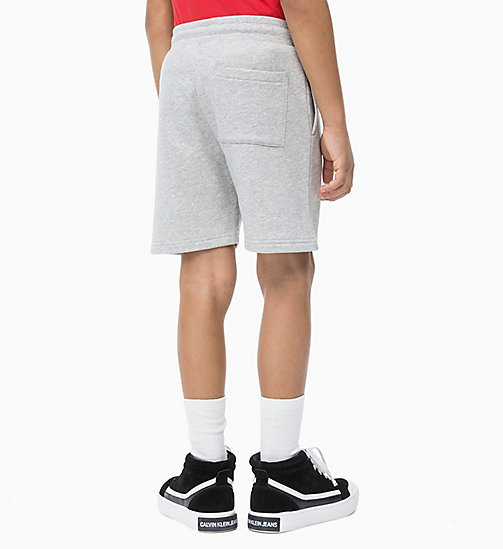 CALVIN KLEIN JEANS Sweat-Shorts aus Baumwoll-Frottee - LIGHT GREY HEATHER - CALVIN KLEIN JEANS HERREN - main image 1