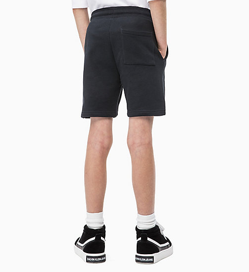 CALVIN KLEIN JEANS Cotton Terry Sweatshorts - BLACK BEAUTY - CALVIN KLEIN JEANS MEN - detail image 1