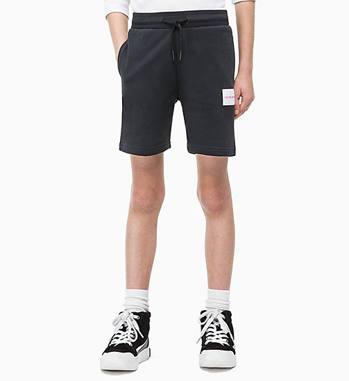 CALVIN KLEIN JEANS Cotton Terry Sweatshorts - BLACK BEAUTY - CALVIN KLEIN JEANS MEN - main image