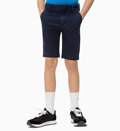CALVIN KLEIN JEANS Slim Canvas Chino Shorts - PEACOAT - CALVIN KLEIN JEANS MEN - main image