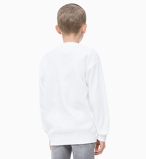 CALVIN KLEIN JEANS Oversized Photo Print Sweatshirt - BRIGHT WHITE - CALVIN KLEIN JEANS MEN - detail image 1