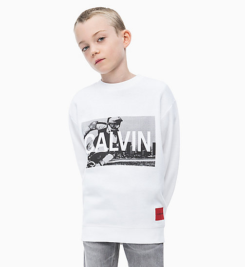 CALVIN KLEIN JEANS Oversized Photo Print Sweatshirt - BRIGHT WHITE - CALVIN KLEIN JEANS MEN - main image