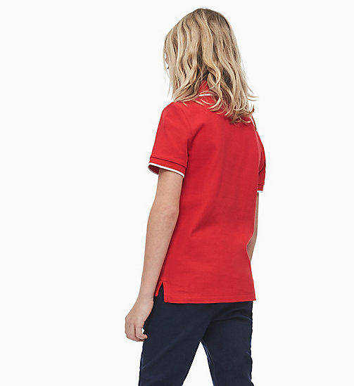 CALVIN KLEIN JEANS Classic Polo - RACING RED - CALVIN KLEIN JEANS MEN - detail image 1