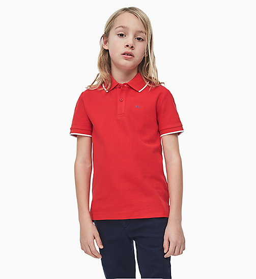 CALVIN KLEIN JEANS Classic Polo - RACING RED - CALVIN KLEIN JEANS MEN - main image