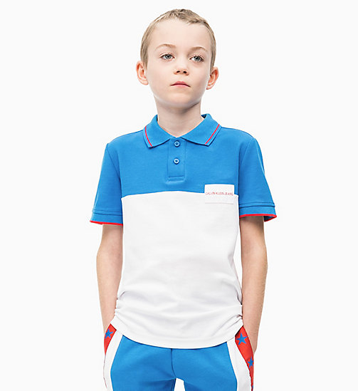 CALVIN KLEIN JEANS Polo a righe grosse colorate - BRIGHT WHITE - CALVIN KLEIN JEANS UOMO - immagine principale