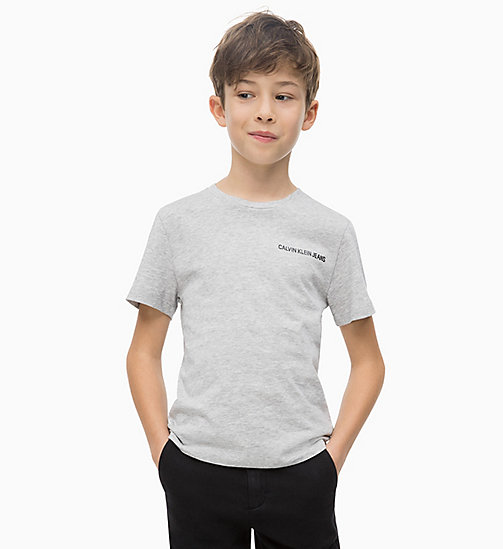 CALVIN KLEIN JEANS Organic Cotton T-shirt - LIGHT GREY HEATHER - CALVIN KLEIN JEANS MEN - main image