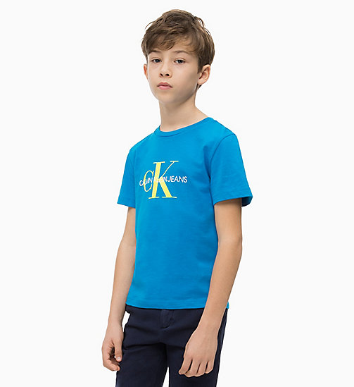 CALVIN KLEIN JEANS Logo T-shirt - ELECTRIC BLUE LEMONADE - CALVIN KLEIN JEANS MEN - main image