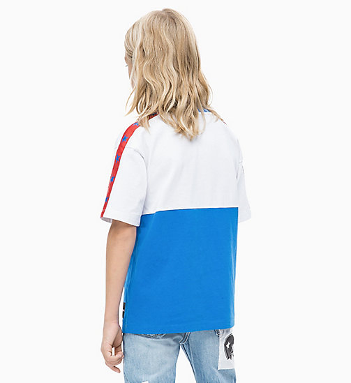 CALVIN KLEIN JEANS Oversized Colourblock T-shirt - ELECTRIC BLUE LEMONADE - CALVIN KLEIN JEANS MEN - detail image 1