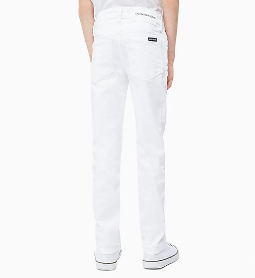 CALVIN KLEIN JEANS Slim Jeans - CLEAN WHITE STRETCH - CALVIN KLEIN JEANS MEN - detail image 1
