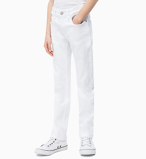 CALVIN KLEIN JEANS Slim Jeans - CLEAN WHITE STRETCH - CALVIN KLEIN JEANS MEN - main image