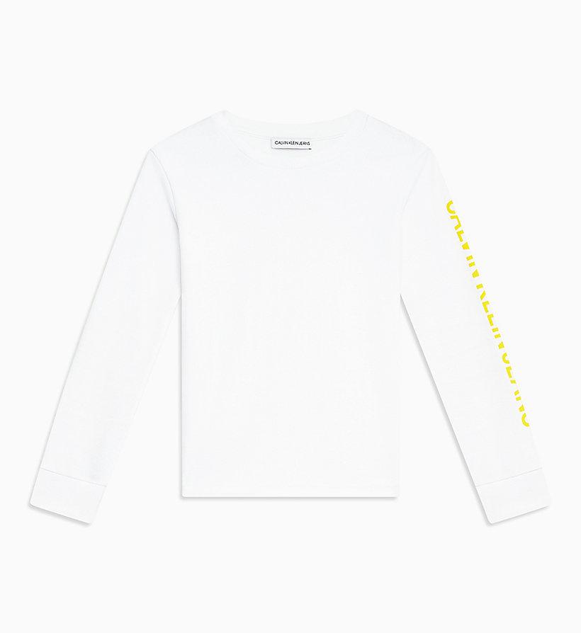 manga acanalada Klein®Ib0ib00211100 de larga Calvin Camiseta de JFlcK1