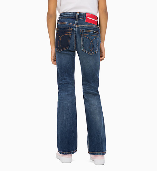 CALVIN KLEIN JEANS Skinny Flare Jeans - NOVEL BLUE STRETCH - CALVIN KLEIN JEANS GIRLS - detail image 1