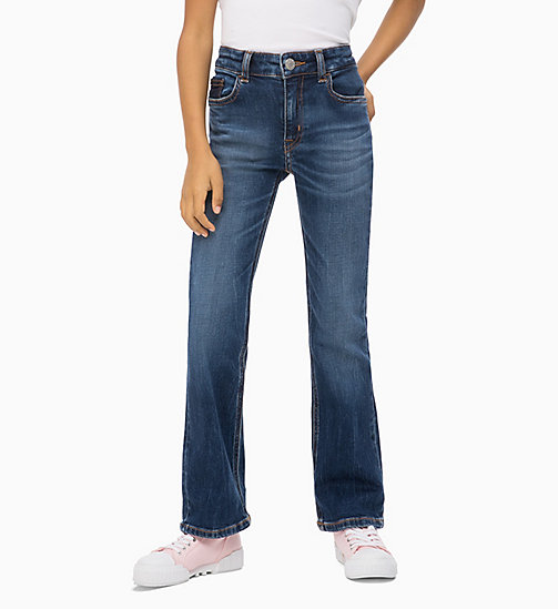 CALVIN KLEIN JEANS Skinny Flare Jeans - NOVEL BLUE STRETCH - CALVIN KLEIN JEANS GIRLS - main image