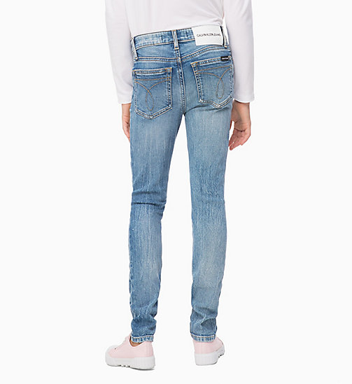 CALVIN KLEIN JEANS High Rise Skinny Jeans - CRANE LIGHT BLUE STRETCH - CALVIN KLEIN JEANS GIRLS - detail image 1