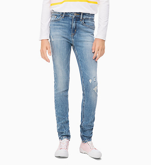 CALVIN KLEIN JEANS High Rise Skinny Jeans - CRANE LIGHT BLUE STRETCH - CALVIN KLEIN JEANS GIRLS - main image