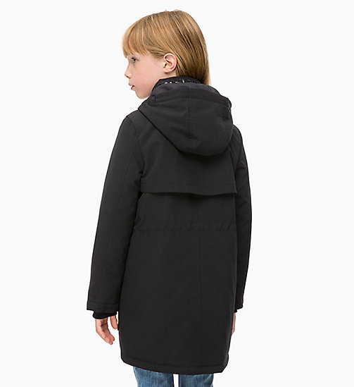 CALVIN KLEIN JEANS Hooded Parka Jacket - BLACK BEAUTY - CALVIN KLEIN JEANS GIRLS - detail image 1