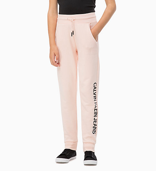 CALVIN KLEIN JEANS Relaxed Logo Joggers - PEACHY KEEN - CALVIN KLEIN JEANS GIRLS - main image
