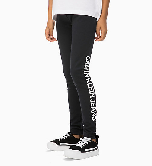 CALVIN KLEIN JEANS Logo Leggings - BLACK BEAUTY - CALVIN KLEIN JEANS GIRLS - main image