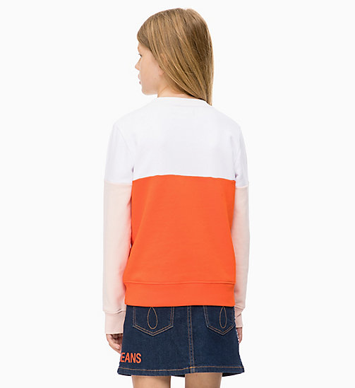 CALVIN KLEIN JEANS Colour-Blocked Sweatshirt - ORANGE COM - CALVIN KLEIN JEANS MEN - detail image 1