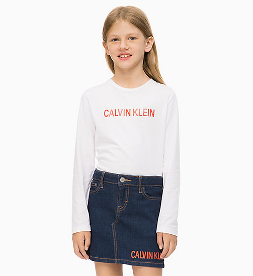 CALVIN KLEIN JEANS Long Sleeve T-shirt - BRIGHT WHITE - CALVIN KLEIN JEANS MEN - main image