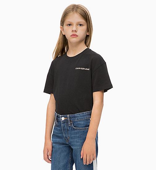 CALVIN KLEIN JEANS Boxy T-shirt - BLACK BEAUTY - CALVIN KLEIN JEANS GIRLS - main image