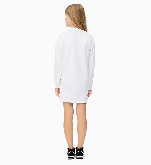 Logo Sweatshirt Dress - BRIGHT WHITE - CALVIN KLEIN JEANS MEN - detail image 1