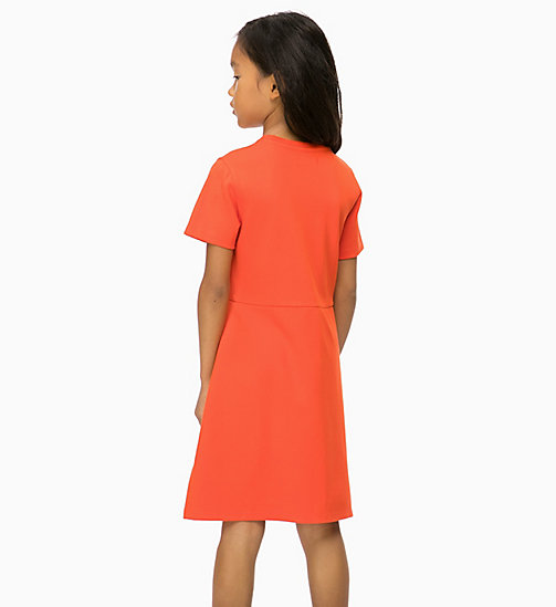 CALVIN KLEIN JEANS Skater Dress - ORANGE COM - CALVIN KLEIN JEANS GIRLS - detail image 1