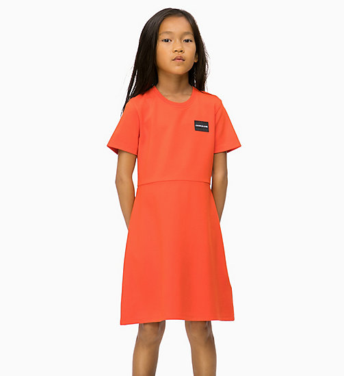 CALVIN KLEIN JEANS Skater Dress - ORANGE COM - CALVIN KLEIN JEANS GIRLS - main image