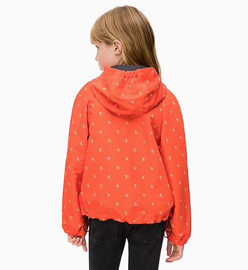 CALVIN KLEIN JEANS All-over Logo Windbreaker - ORANGE COM - CALVIN KLEIN JEANS GIRLS - detail image 1