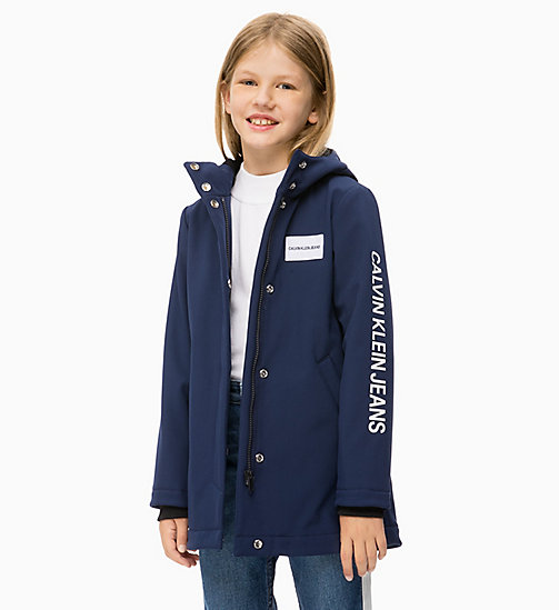 CALVIN KLEIN JEANS Hooded Parka Jacket - PEACOAT - CALVIN KLEIN JEANS GIRLS - main image